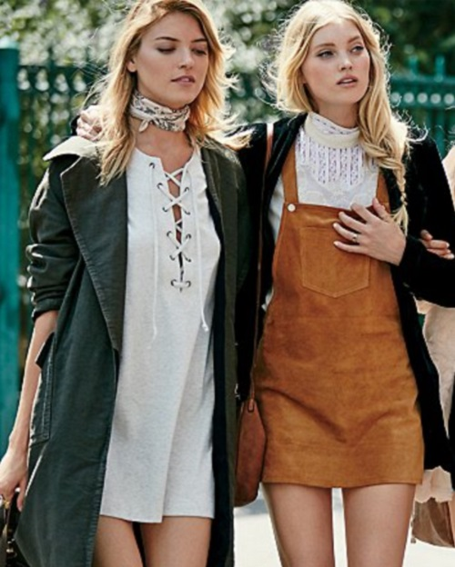 Free People All Laced Up Shift