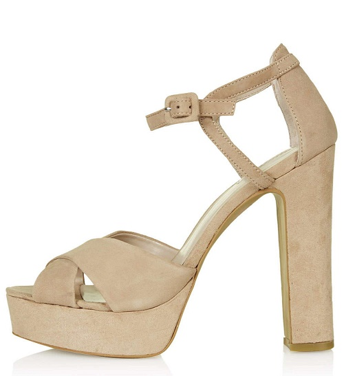 locket suede platform sandals