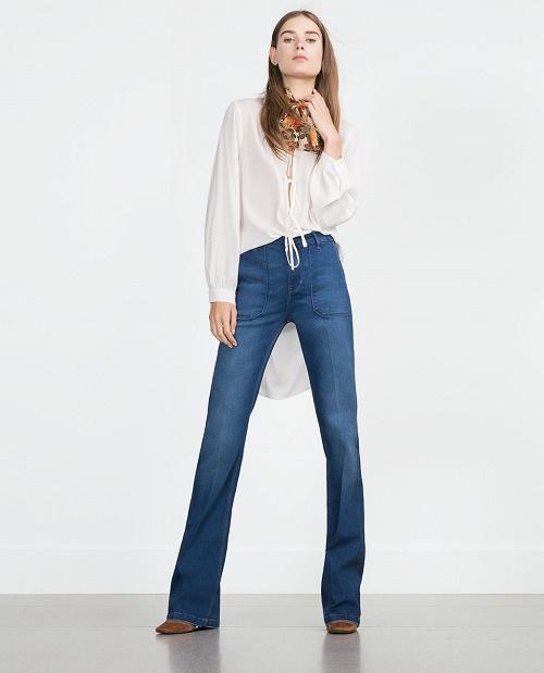 zara flared jeans