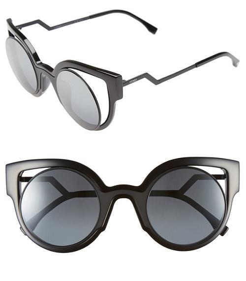 Fendi Orchidea 49mm Cat Eye Sunglasses