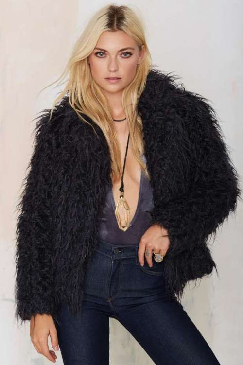 Super Trash Odia Faux Fur Coat