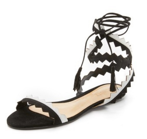 Schutz Leila Ankle Wrap Sandals