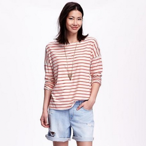 Old Navy Striped Boat Neck Tee