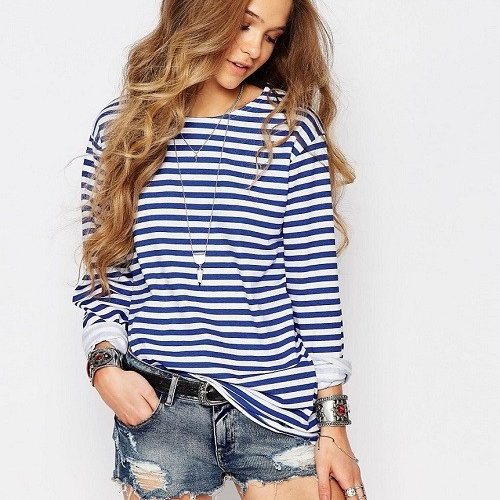 reclaimed vintage breton stripe top