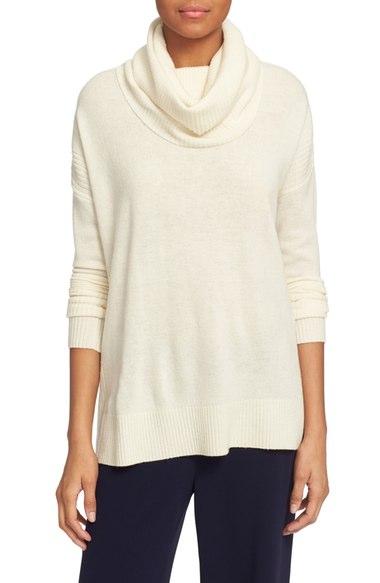 Diane von Furstenberg Ahiga Slim 2 Wool & Cashmere Cowl Neck Sweater