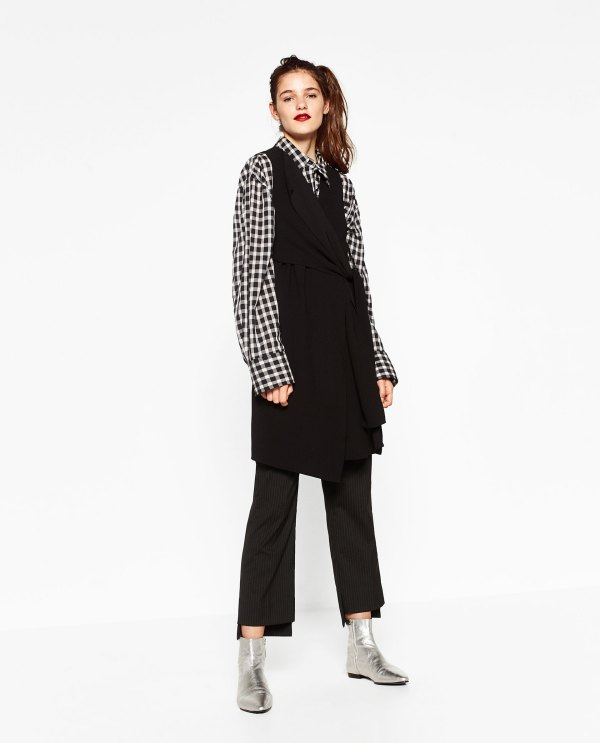 Zara Waistcoat With Knot