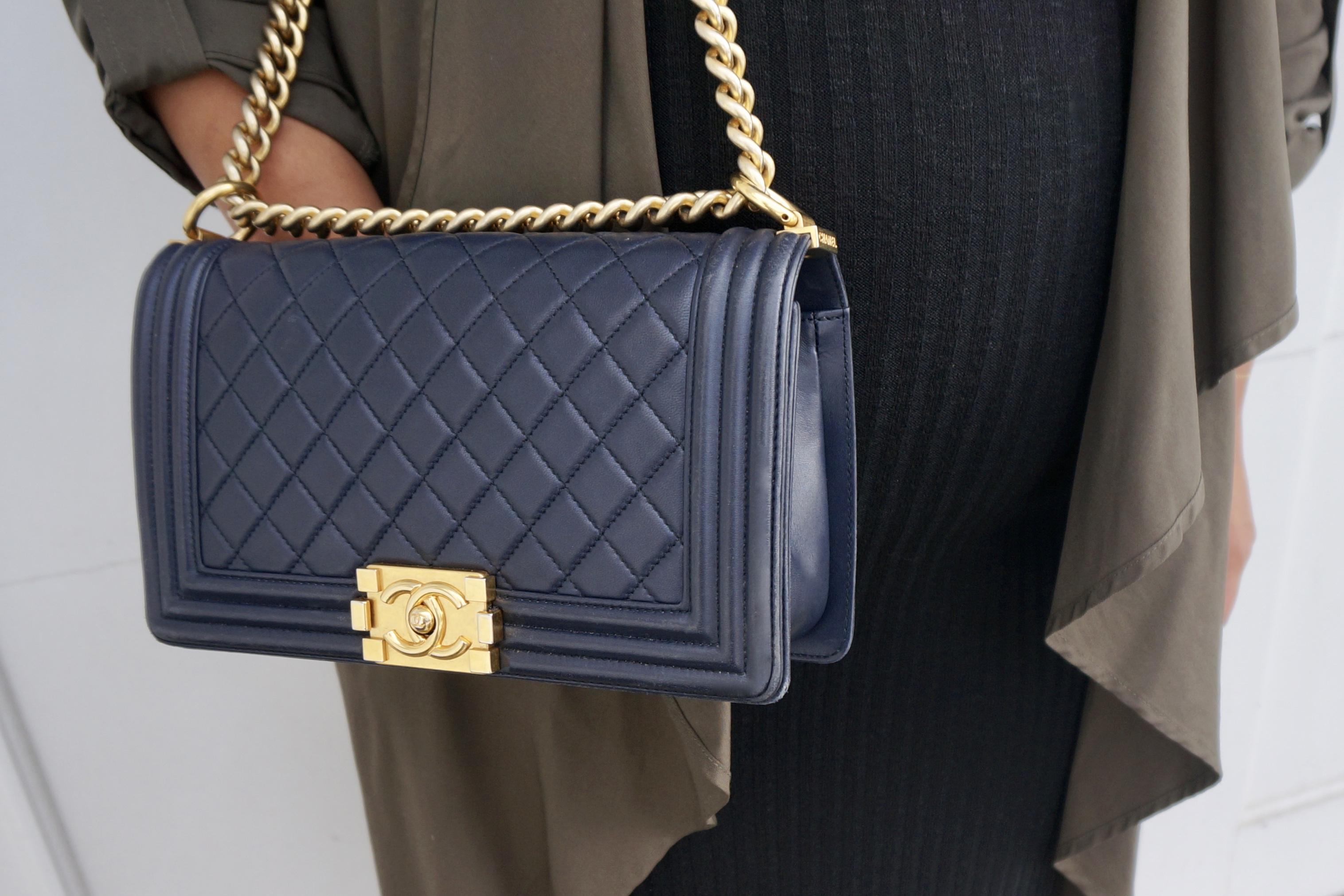 Chanel Boy Bag Navy Gold Hardware – Glam York f34e05b079e4