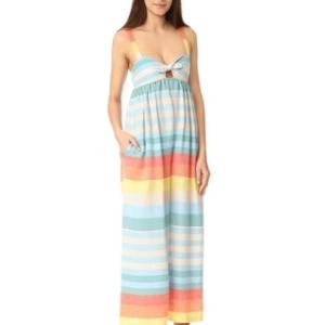 Mara Hoffman Equator Stripe Tie Front Jumpsuit