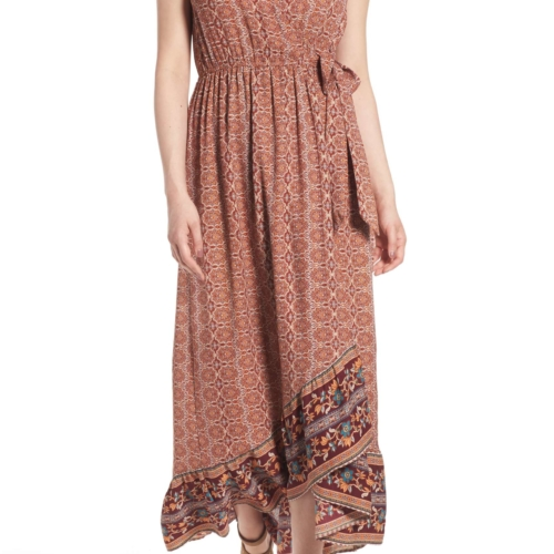 Band Of Gypsies Faux Wrap Maxi Dress
