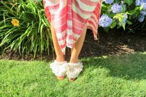 Zara High Heel Mule With Pom Pom