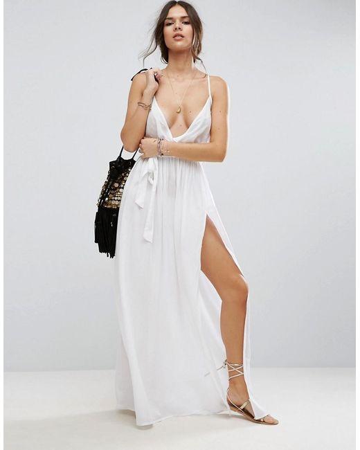 ASOS Woven Wrap Maxi Beach Dress