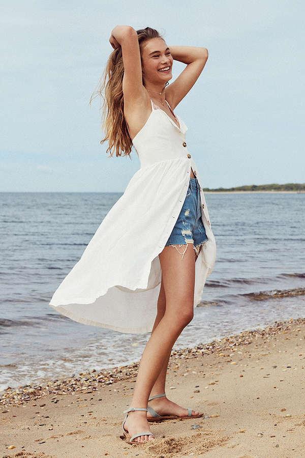 Cooperative Emilia Linen Button-Down Midi Dress