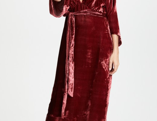 rhode resort leonard tassel wrap dress
