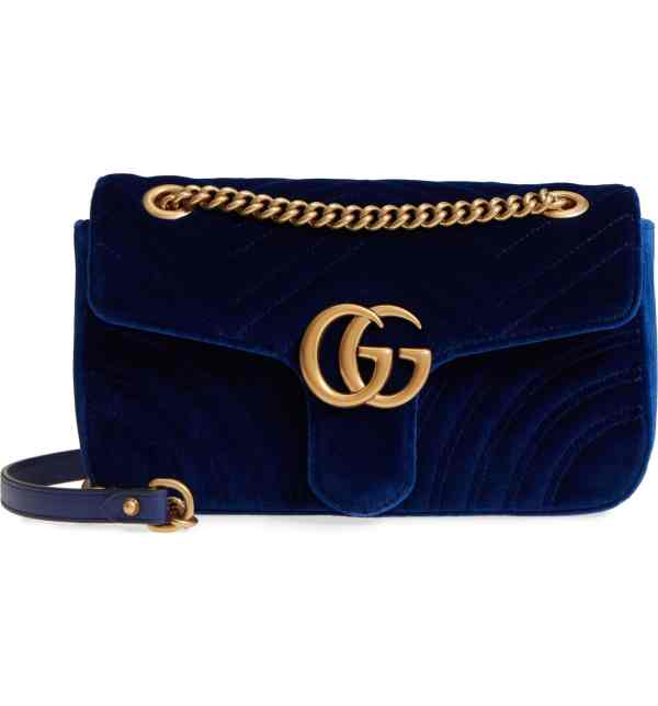Gucci Medium GG Marmont 2.0 Matelassé Velvet Shoulder Bag