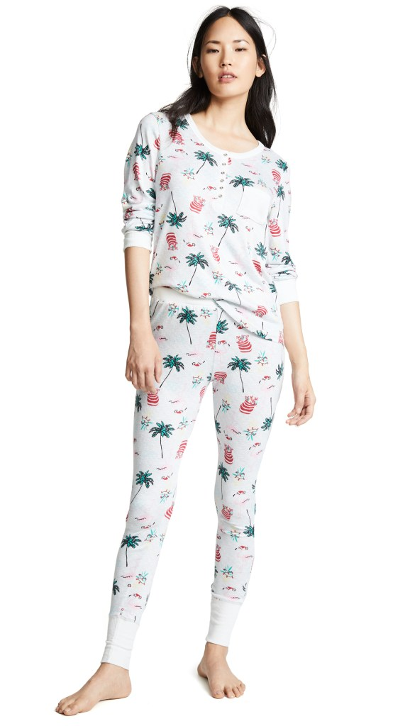 emerson road santa flamingo pj set