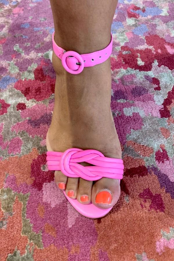 Alexandre Birman Vicky Leather Knot Ankle-Strap Sandals