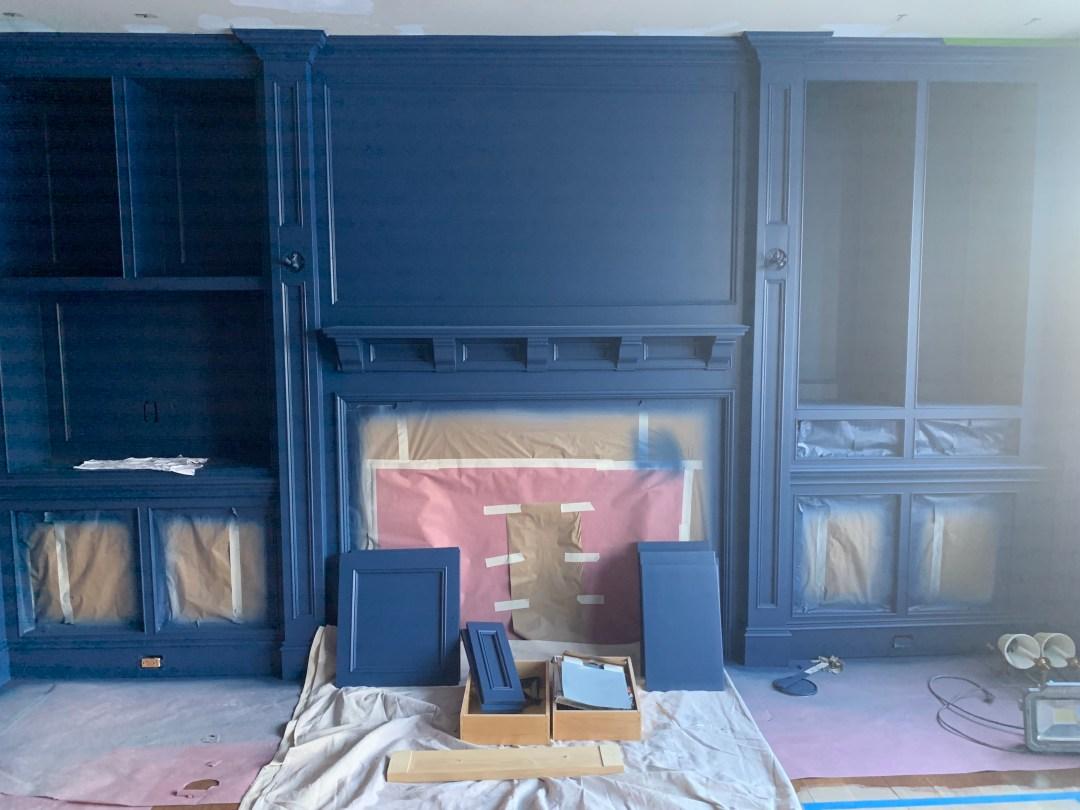 Benjamin Moore Downpour Blue Office