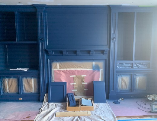 Benjamin Moore Downpour Blue Office