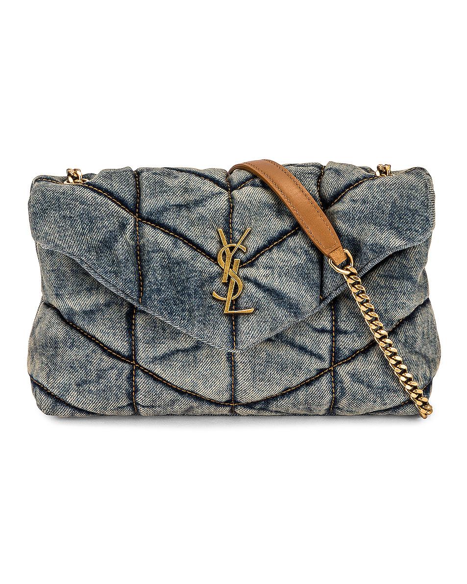 Saint Laurent Small Loulou Matelasse Denim Shoulder Bag