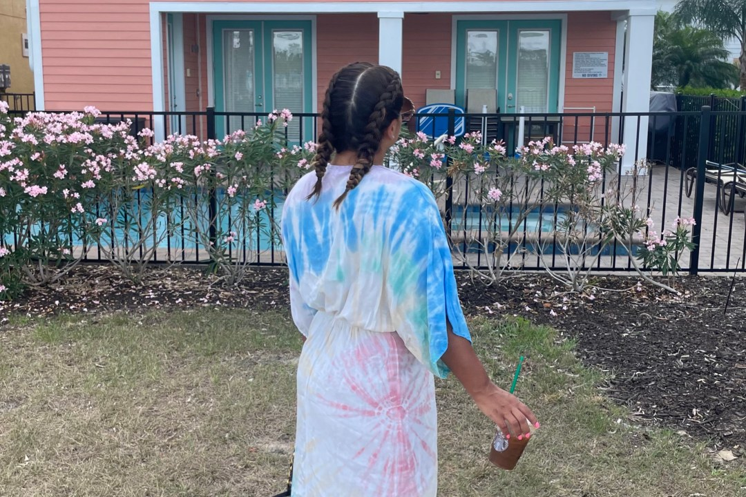 Surf Gypsy Tie Dye Twist Front Caftan