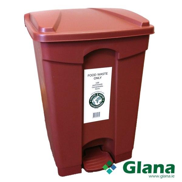 Food Waste Pedal Bin 45 litre