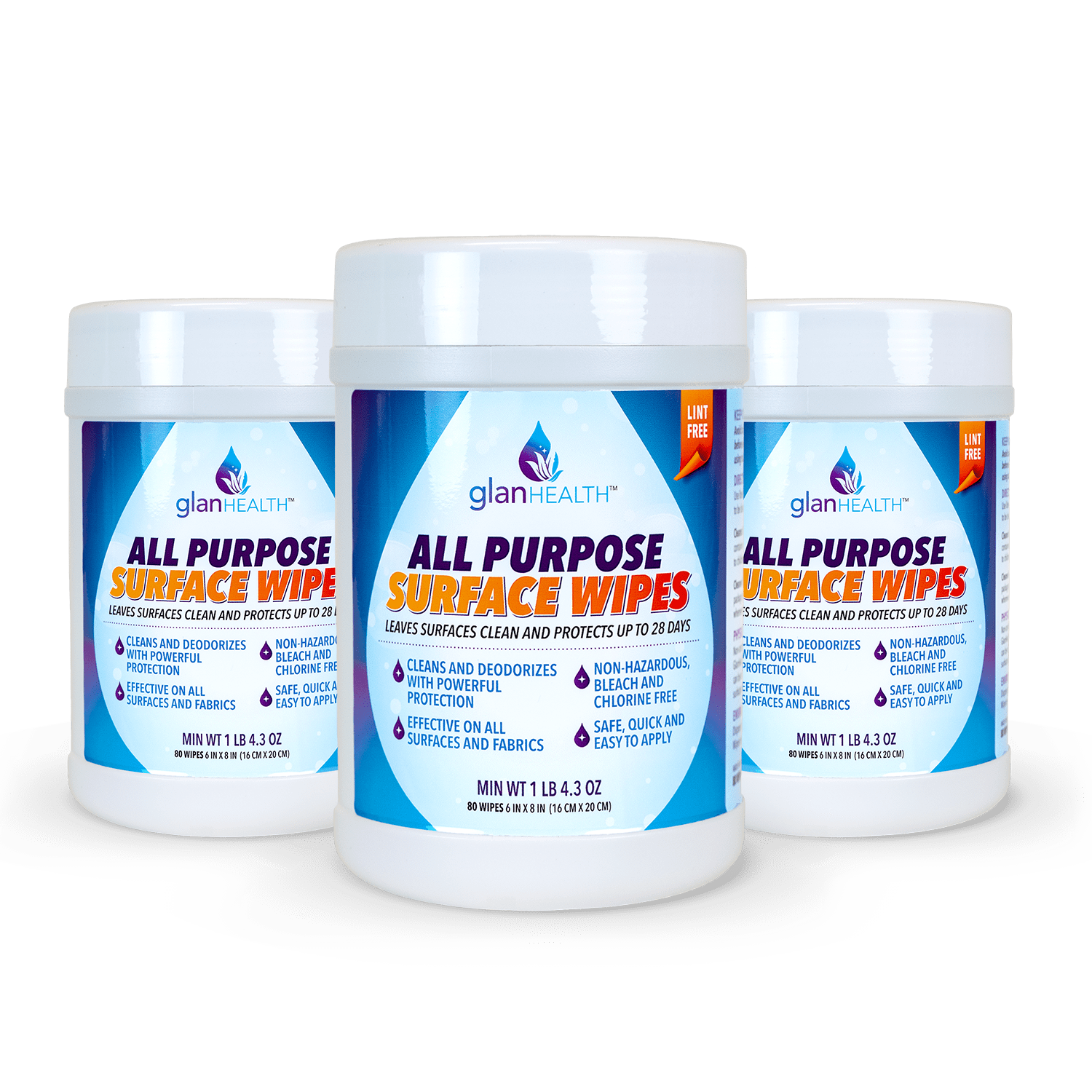 GlanHealth All Purpose Surface Wipes