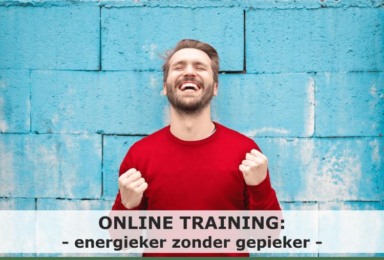 Online training energieker zonder gepieker