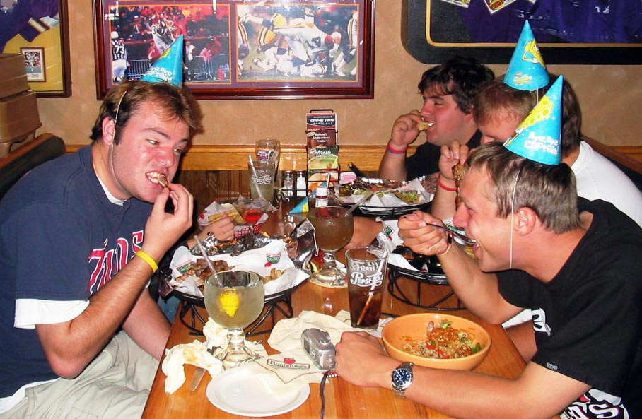 2005 - 23rd birthday - Went to Applebee's with friends and then Twins game in a suite.