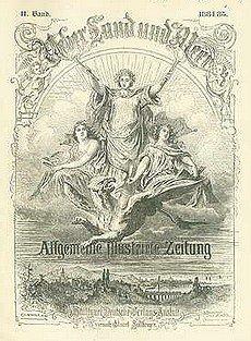 Die sog. Allgemeine Illustrirte Zeitung «Über Land und Meer» war nur eine der vielen Postillen im vorletzten Jahrhundert, welche das Bilderrätsel als noblen Zeitvertreib breiter gebildeter Schichten etablierten