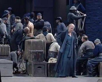 Chor-Szene aus einer Bayreuther Inszenierung des «Tannhäuser»