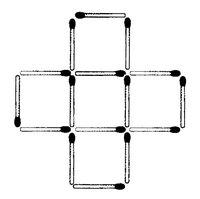 Streichholzrätsel Denksport-Aufgabe mit Lösung Matchstick Puzzle (Nummer 17) Lösung