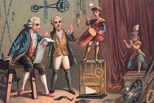 Jacques Vaucansons Trommler (Zeitgenössische Postkarte)