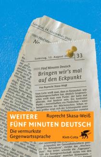 Weitere fünf Minuten Deutsch - Ruprecht Skasa-Weiss - Cover - Klett-Cotta Verlag
