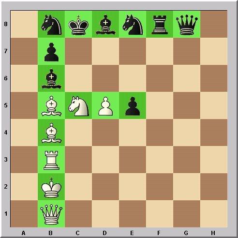Studie Schach-Alphabet Buchstabe F Problemschach Walter Eigenmann im Glarean Magazin
