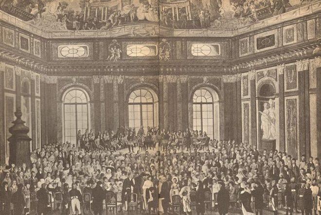 """Öffentliche Uraufführung der """"Schöpfung"""" im Festsaal der Universität Wien (1808)"""