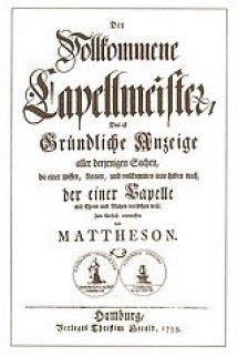 """""""Der vollkommene Kapellmeister"""" von Mattheson (Deckblatt)"""