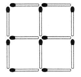Streichholzrätsel Denksport-Aufgabe mit Lösung Matchstick Puzzle Nummer 08 Lösung