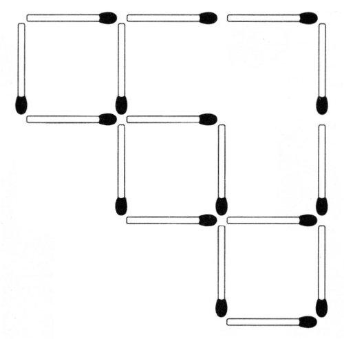 Streichholzrätsel Denksport-Aufgabe mit Lösung Matchstick Puzzle (Nummer 14)