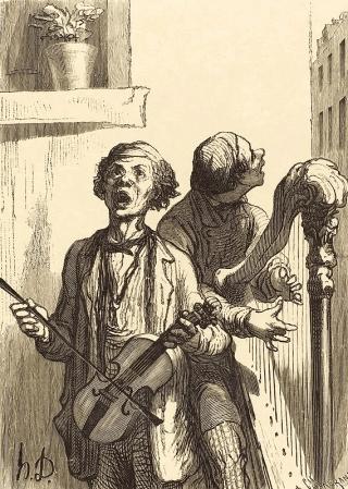 Honore Daumier - Die Strassenmusikanten - Musiker-Anekdoten - Glarean Magazin