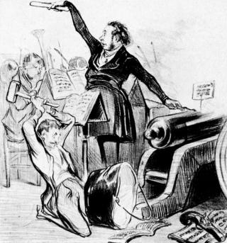 Honore Daumier - Pyrotechnische, charivareske und diabolische Musik - Musiker-Anekdoten - Glarean Magazin