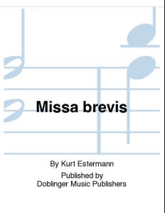 Kurt Estermann - Missa brevis - Doblinger Music Publishers