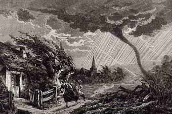 Gewitterszene aus Les grandes inventions anciennes et modernes dans les sciences, l'industrie et les arts (1870)