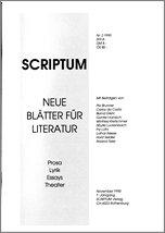 Literaturzeitschrift SCRIPTUM Nr. 02 - Cover