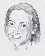 Antoaneta Stefanowa in einer Zeichnung von Axel Hennlein