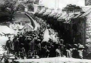 Wenn der Industrie und der Wirtschaft ganze Landstriche geopfert werden: Szene aus dem s/w-Film «How green was my valley» (1941)