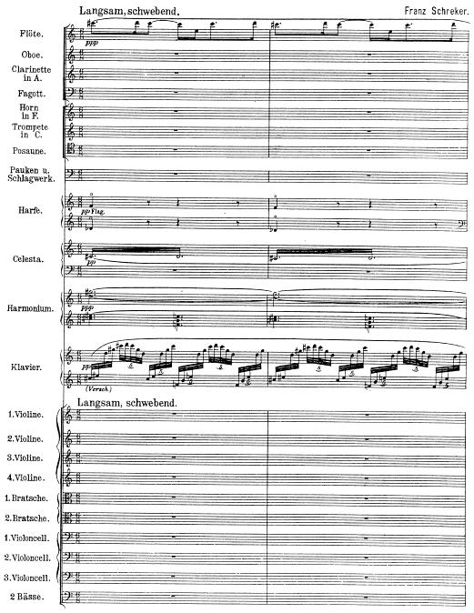 «Verschollene Übungssinfonie des jungen Brahms?»: Beginn der Kammersinfonie