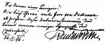 Handschrift von Rilke
