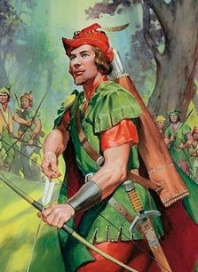 Mittelalterlicher Outlaw-Bogenschütze im Dienste der Armen und Verfolgten: Robin Hood