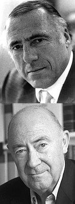 Zwei der letzten grossen Verleger-Persönlichkeiten: Siegfried Unseld (†2002) und Daniel Keel (†2011)