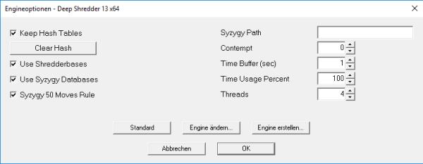 shredder-13-engineoptionen